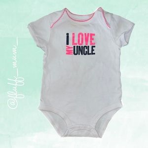 Carters I ❤️ uncle diaper shirt